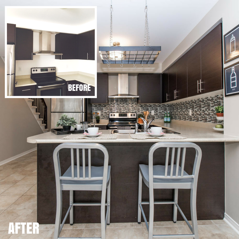 McCue Kitchen -before-after
