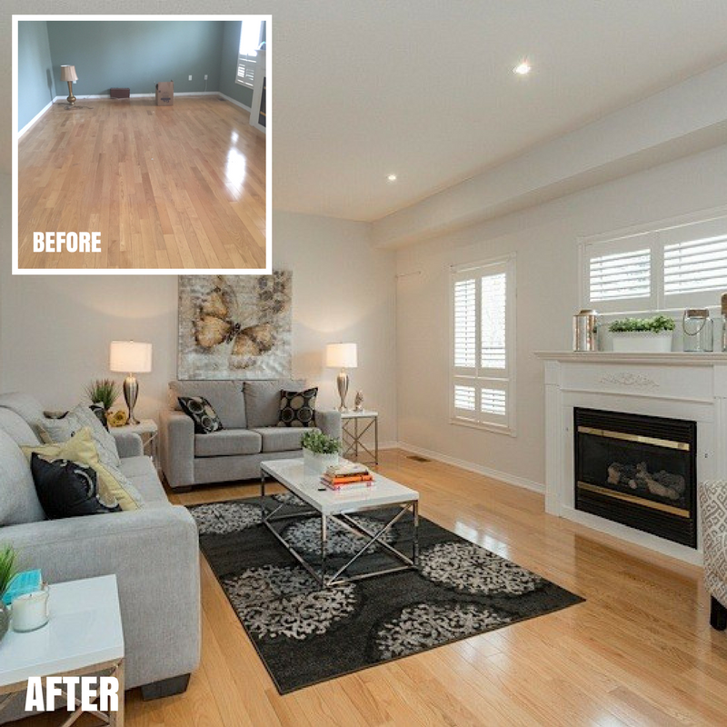 Selkirk Family Room -before-after